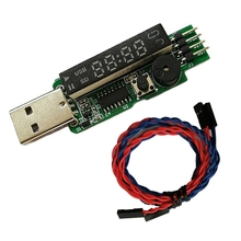 USB Watchdog USB Adapter Watchdog Card LED Screen Automatic Loop Operation with Connection Cable for Bitcoin BTC Miner