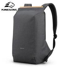 Kingsons 2020 novos homens anti-roubo mochila 180 graus aberto usb carregamento portátil mochila 15.6 polegada sacos de escola para meninos adolescentes