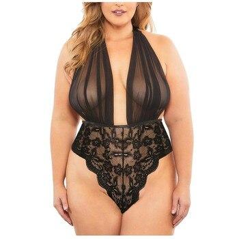 Women Deep V-Neck Underwear INTIMATES Plus Size