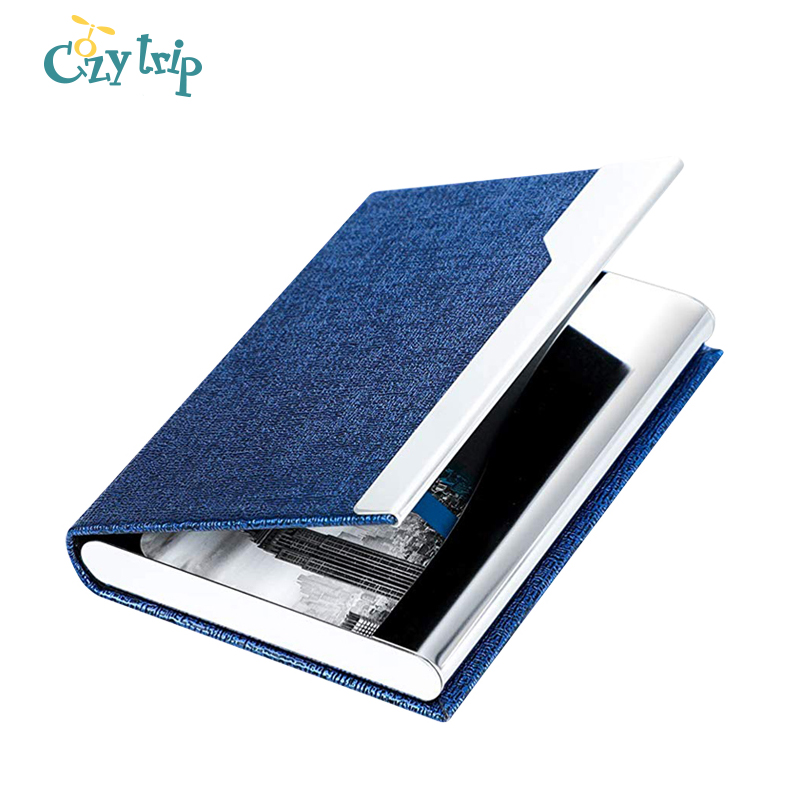 Professional Business Card Holder With Magnetic Buckle Slim Stainless Steel Pocket Business Name Card Carrier Case