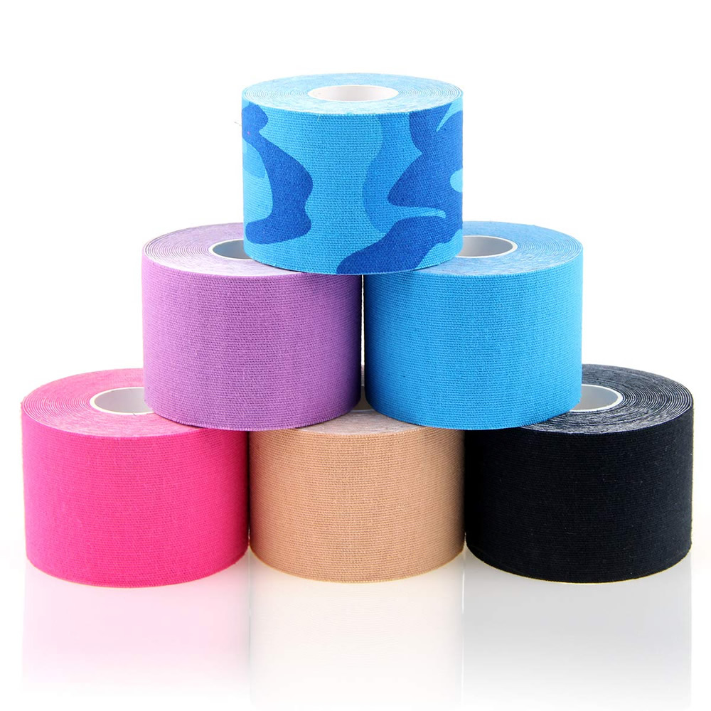 10Rolls 5cm*5m Therapeutic Sports Kinesiology Tape Waterproof Elastic Muscle Tape for Weightlifting Shoulder Knee Elbow Ankle 1
