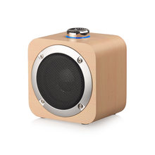 Wooden gift bluetooth speaker portable mini high power subwoofer(China)