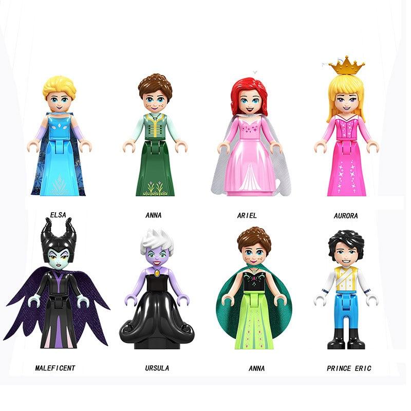 2019 Disney Frozen Legoing Friends Anna Elsa Princess Building Blocks Toys For Children Friends Legoing Figure Toy