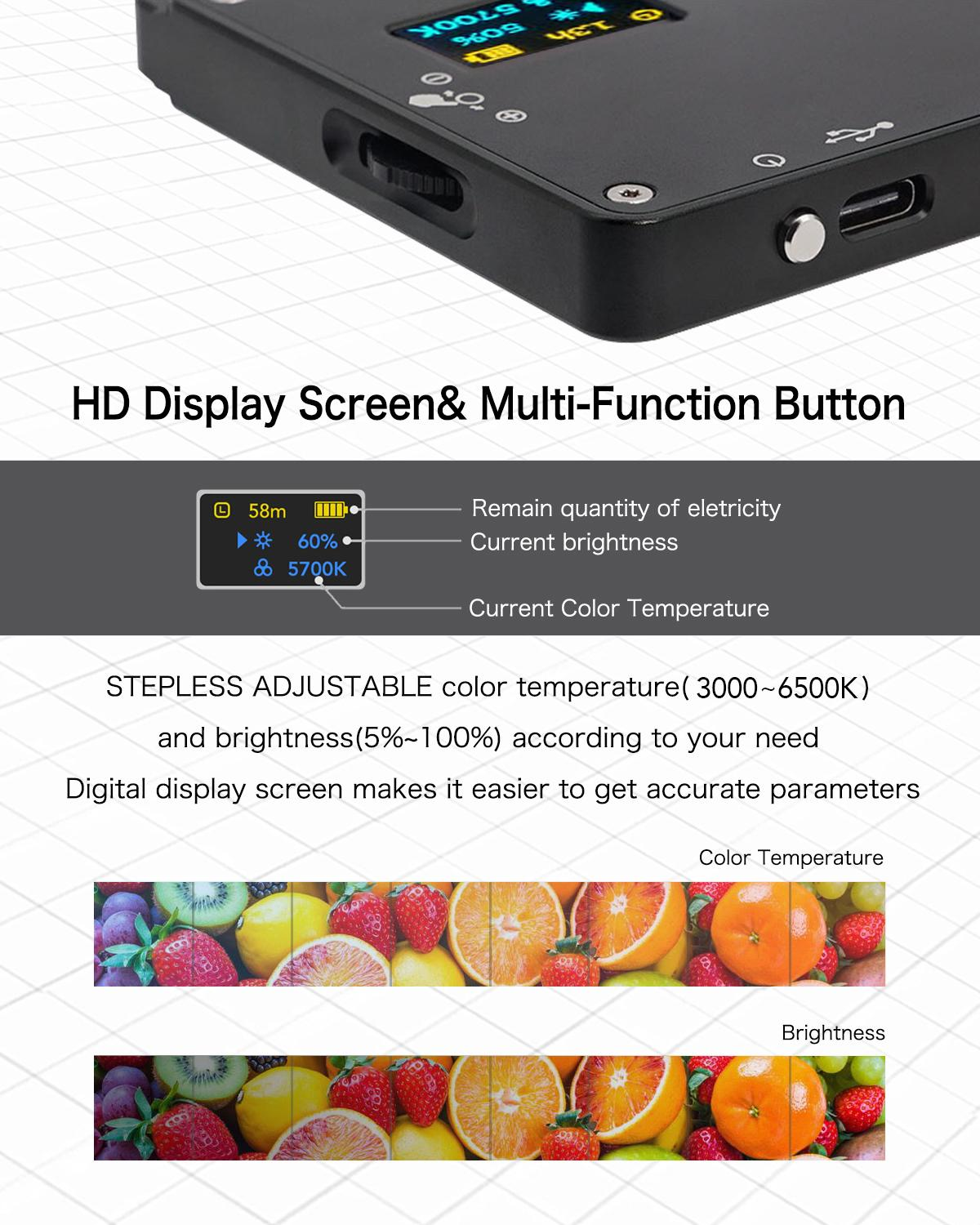Image 3 - Moman Mini 4.5 Inch On Camera LED Video Light with Magnetic Back Bi Color 3000K 6500K CRI96+ Filming Lighting-in Photographic Lighting from Consumer Electronics