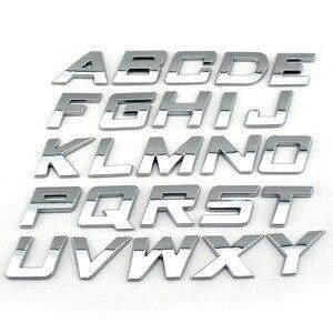 DIY 25 мм Высокая Italic пластик 3d Хром буквы цифры самоклеющиеся Алфавит автомобиля стикер Авто знак автомобильные аксессуары украшения