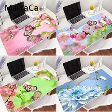 MaiYaCa Flower Butterfly Landscape gamer play mats Mousepad Gaming Mouse Pad Large Locking Edge Keyboard Deak Mat for Cs Go LOL(China)