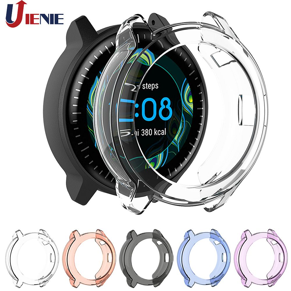 TPU Watch Protector Case Cover For Garmin Vivoactive 3 Music Smart Bracelet Protection Frame Transparent Protective Shell