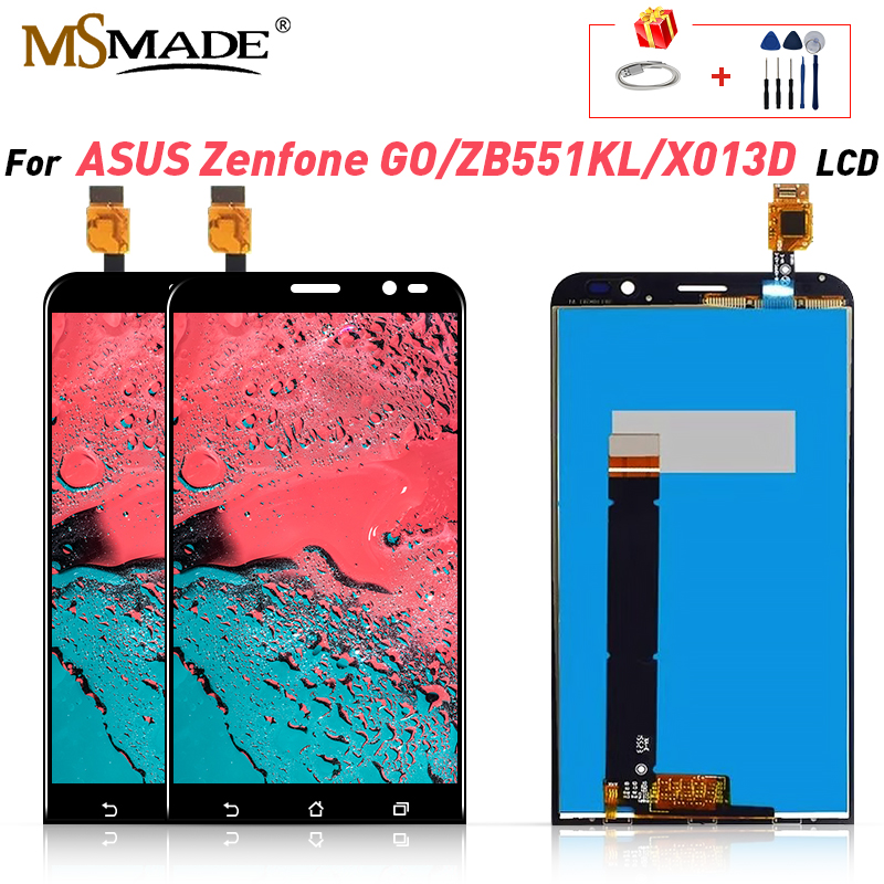 Original LCD For <font><b>Asus</b></font> Zenfone Go TV ZB551KL Display LCD Touch Screen Digitizer Assembly For <font><b>ASUS</b></font> <font><b>X013D</b></font> ZB551KL LCD Display 5.5'' image