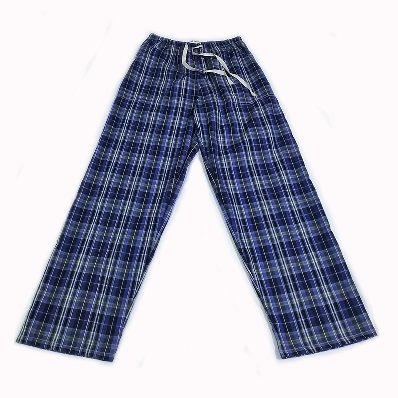 Cheap Cotton Plaid Spring Summer Men's Sleep Bottoms Pajamas Bottoms Sleepwear Pants Pajamas For Sleeping Man Pyjamas Home Wear