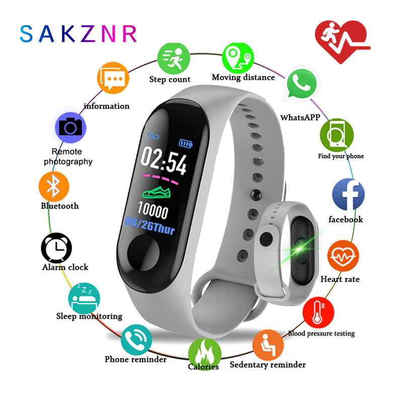 Smart Band M3 Sprrt Continue Hartslagmeter Smart Armband M3 Touch Screen Fitness Tracker Smartband Tpe Smart Polsband