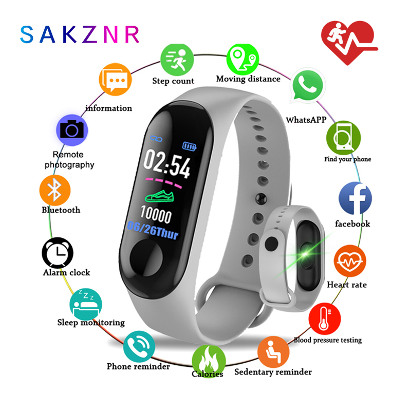 Smart Band m3  Sprrt Continuous Heart Rate Monitor Smart Bracelet M3 Touch Screen Fitness Tracker Smartband TPE Smart Wristband