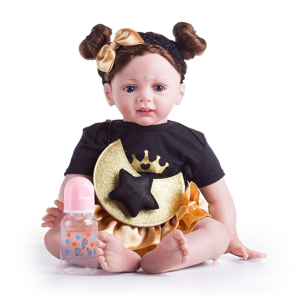 2019 dernières 60cm Reborn poupées en Silicone souple bébé mode princesse poupée jouet fille Playmates bricolage pour cadeau d'anniversaire Surprise