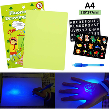 Light Up Drawing Board, Portable Light Drawing Pad for Kids, Educational Magic Drawing Board, Draw with Lights Fun and Developin bowknot owl print draw diamond drawing