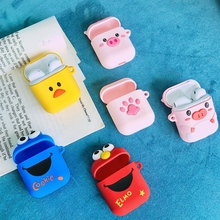 wholesale For AirPods Case Cute Cartoon Pattern Bluetooth Wireless Earphone Cases Air pods 2 Accessories Charging Box