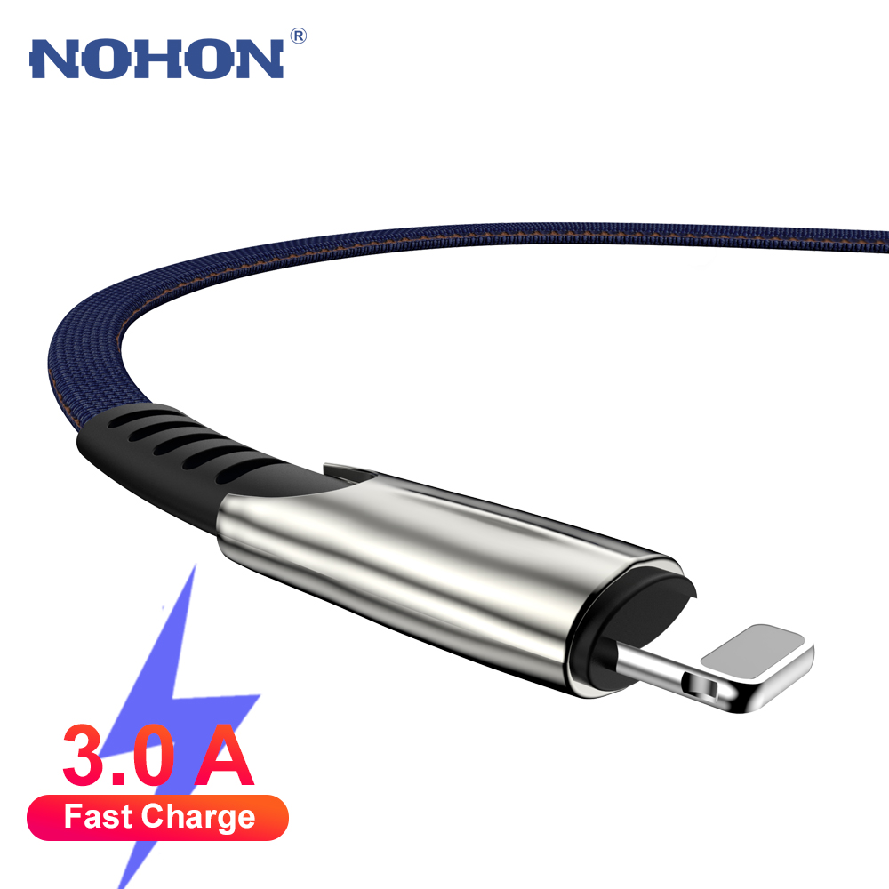 Data USB Charger Cable For iPhone 7 8 Plus X XR XS Max 11 Pro 5 6 S 6S iPad 1M 2M 3M Origin Phone Long Wire Cord 3A Fast Charge(China)