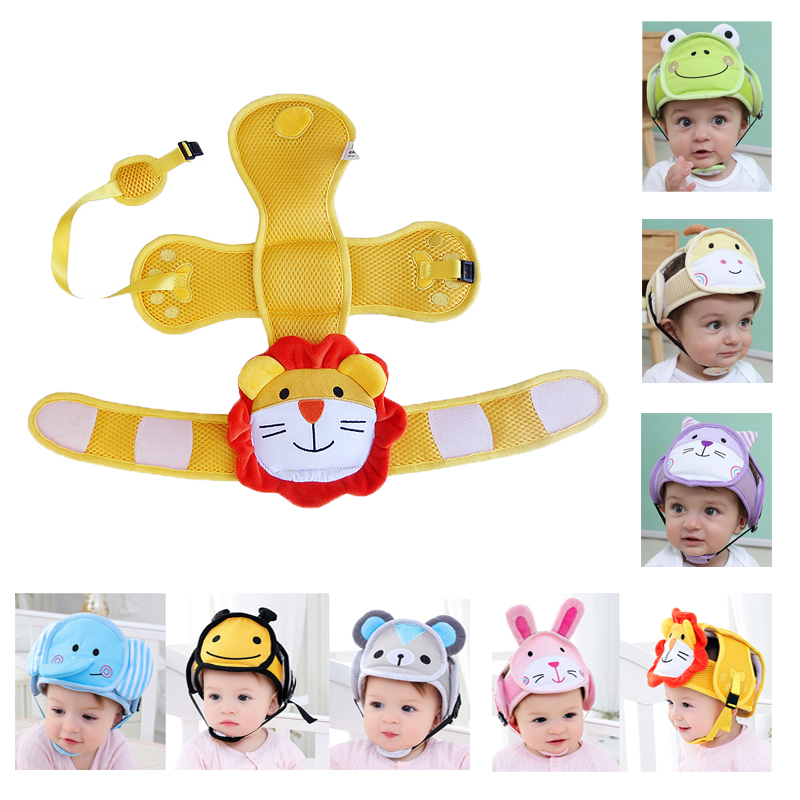Baby Toddler Cap Baby Head Protection Hat Anti-fall Anti-collision Protective Hat Adjustable Safety Helmet Pillow For Boys Girls