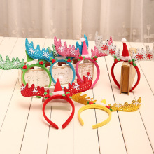 Sequins Antlers Christmas Headband Party Decor Fancy Reindeer Hairband Xmas Kids Pora I