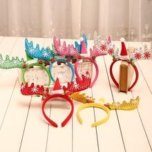 Sequins Antlers Christmas Headband Party Decor Fancy Reindeer Hairband Xmas Kids Pora I