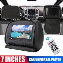 Универсальный 7-ми дюймовый светодиодный 1080P к автомобильному подголовнику MP5 монитор/мультимедийный плеер/заднем сиденье MP5/USB/SD/MP3 MP4 FM встр...
