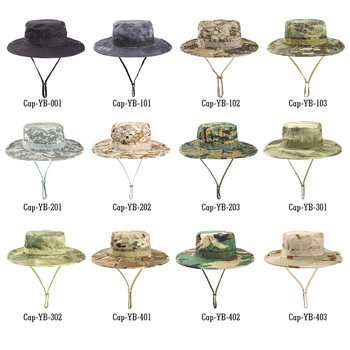 Multicam Tactical Airsoft Sniper Camouflage Bucket Boonie Hats Nepalese Cap SWAT Army Panama Military Accessories Summer Men 6