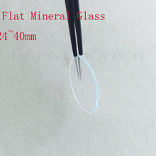 Watch Crystal Mineral-Glass Thick Flat for Selected-Size 24-To-40mm 2pc