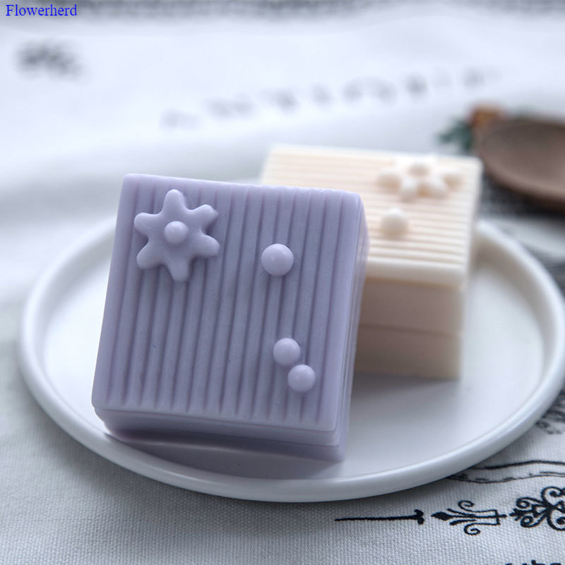 Square Small Pastry Fondant Cake Silicone Mold Handmade Soap Silicone Mold DIY Chocolate Biscuit Mold Soap Making Supplies