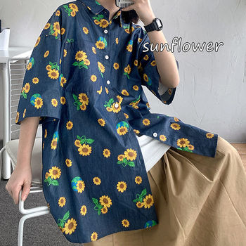 Summer Flower Shirt Men's Fashion Casual Shirt Men Streetwear Wild Hawaiian Solid Color Loose Korean Short-sleeved Shirt Mens summer new short sleeved shirt men fashion print casual hawaiian shirt man streetwear trend wild hip hop loose camo shirt m xl