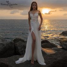 Женское свадебное платье в стиле бохо кружевное шифоновое трапеция