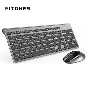 Wireless keyboard and mouse combination,2.4 gigahertz stable connection , portable mute keyboard mouse Black Office keyboard topmate keyboard and mouse pack 2 4 ghz wireless keyboard and mouse pack qwerty for ipad macbook laptop tv spanish black