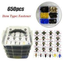 650 Pcs Auto Fastener Clip Gemengde Auto Body Push Retainer Pin Klinknagel Bumper Portierbekleding Retainer Fastener Kit