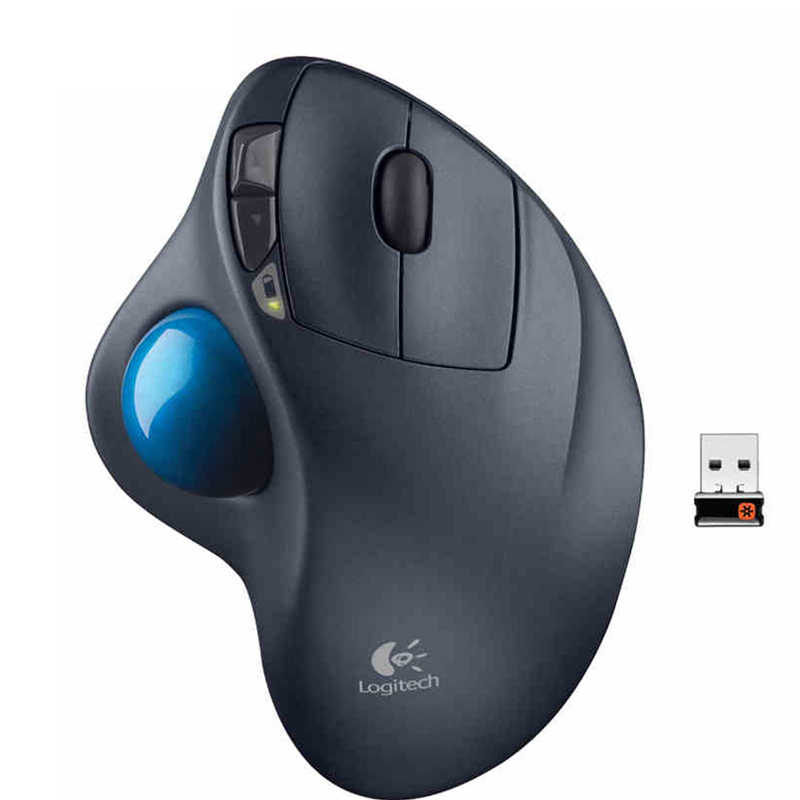 Logitech M570 Wireless Trackball Mouse Gambar Dukungan Mouse Kantor Tes dengan USB Receiver 1000 Dpi untuk Desktop/Laptop PC