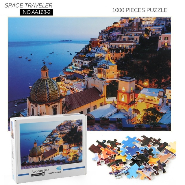 Jigsaw Puzzles 1000 Pieces Wooden Assembling Picture Space Earth World Landscape Puzzles Toys For Adults Children kids Home Game 4