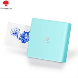 Phomemo M02 Mini Bluetooth bezprzewodowa drukarka kieszonkowa termiczna drukarka fotograficzna przenośna drukarka mobilna do telefonu iphone