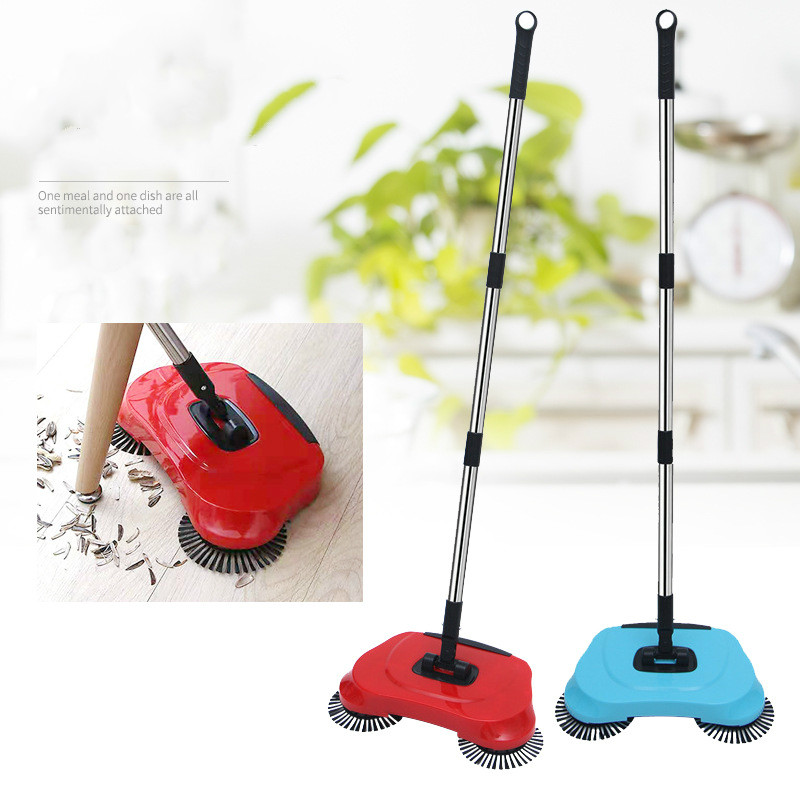 Stainless Steel Sweeping Machine Push Magic Broom Handle Household Vacuum Cleaner Hand Sweeping Machine WF827310