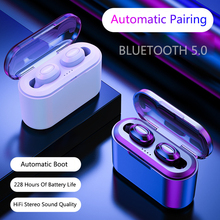 Get more info on the Bluetooth Earphones True Wireless Headphones 5.0 TWS in-Ear Earbuds IPX5 Waterproof Mini Headset 3D Stereo Sound Sport Earpiece