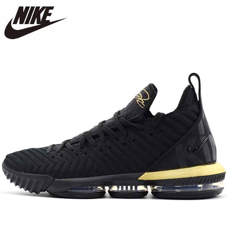 Nike Lebron 16 cuatro jinetes originales recién llegados zapatos de baloncesto para hombres transpirables cómodos zapatillas de deporte al aire libre # BQ5970-007