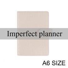 จำกัดไม่สมบูรณ์ของแท้หนังโน้ตบุ๊ค A6 Diary Planner Journal เครื่องเขียนขนาดเล็ก Notepad Agenda Organizer กระเป๋าขนาดใหญ่