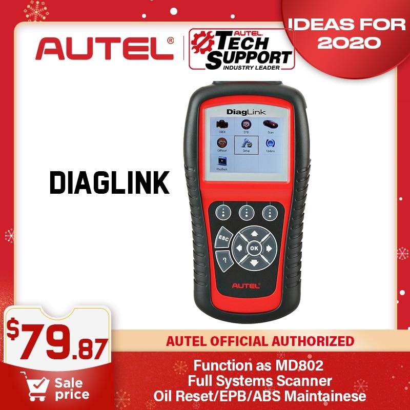 Autel DIAGLINK PK MD802 OBD2 Auto Diagnostic Scanner All System Car Code Reader
