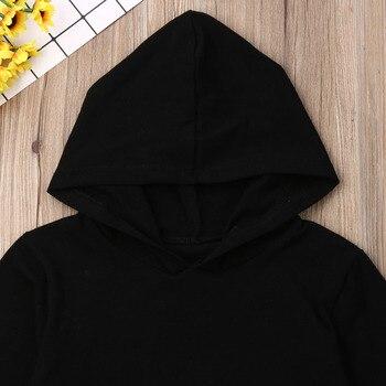 1-6Y Kids Baby Boy Girl Long Sleeve Back Letter Print Hooded Sweatshirt Hoodies Tops Autumn Clothes 3