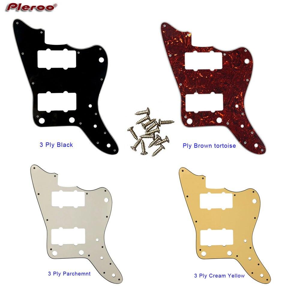 Pleroo Custom Guitar Parts - For Japan No Upper Controls Jazzmaster Style Guitar Pickguard Replacement