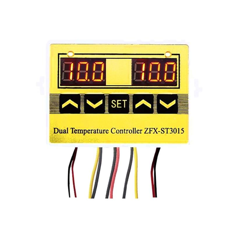 ZFX-ST3015 12V 24V 220V LED Microcomputer Digital Display Temperature Controller Thermostat Intelligent Time Controller Adjustab