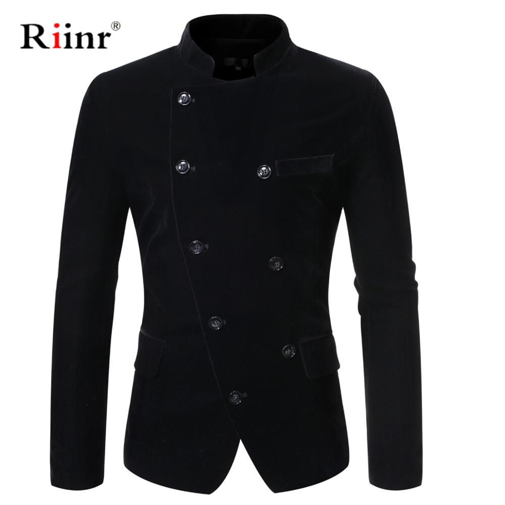 Riinr New Arrival Fashion Blazer Mens Casual Jacket Solid Color Cotton Men Blazer Jacket Men Classic Mens Blazer Coats