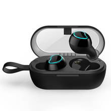 feed me Bluetooth Headset 5.0 HD Earphone Waterproof Sports Wireless Earphones Mini Earphones with Charging Case feed me