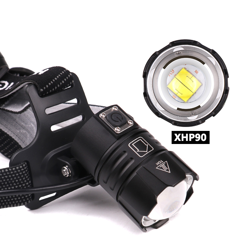 Image 3 - Z40Super Bright XHP90 USB Rechargeable Led Headlamp XHP70 Most Powerfull Headlight Fishing Camping ZOOM Torch by 3*18650 batteryHeadlamps   -