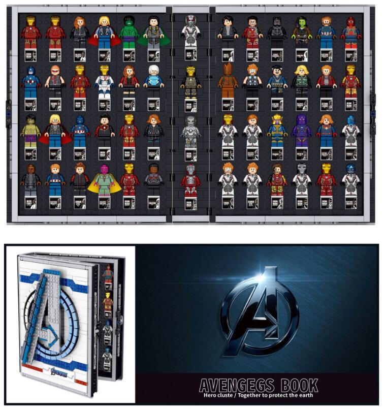 NEW Super Compatible With Avenger Hero Collections Book Building Bricks Lepinblocks Bricks Toys Lepinbricks Gift Marvel