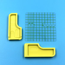 Guía de costura para el hogar, accesorios para máquinas de coser enclavamiento de plástico, rejilla guía amarilla, 1 Juego