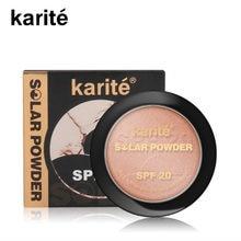 Paleta de contorno Bronceador compacto, base de polvo prensado para hornear, pigmento de piel oscura, polvos de maquillaje