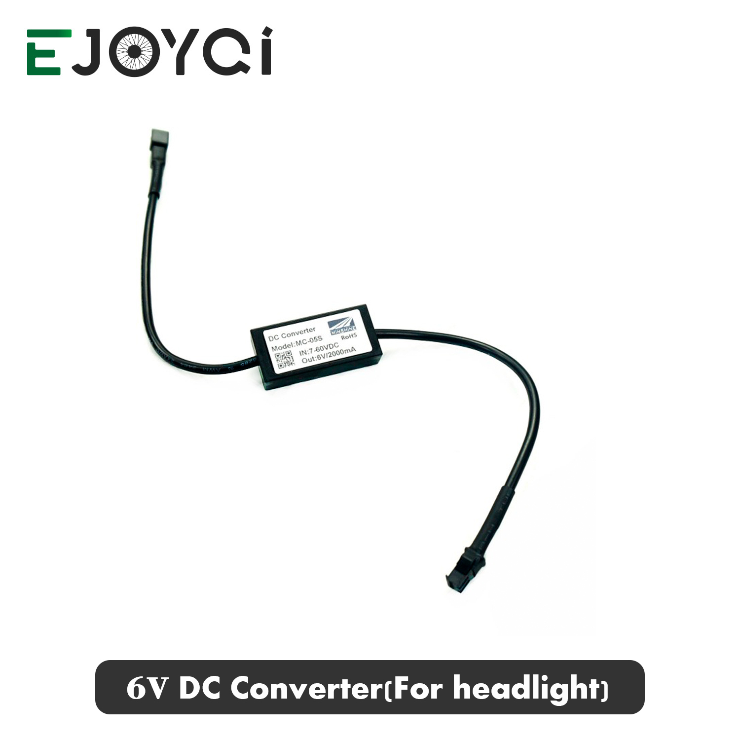 EJOYQI DC Converter 12V 24V 36V 48V 60V To 6V Ebike 6V Front Light Tail Light Function Electric Convertion Accessories