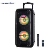 Dual 10inch Bass + 5inch Treble Outdoor Karaoke Stereo Speaker With Digital Screen
