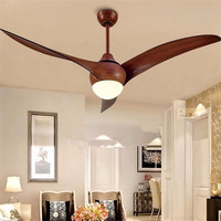Modern LED Ceiling Fan Lamp American Industrial Vintage 52In Ceiling Fan with Remote Control Modern Cooling Fan Lights Fixtures